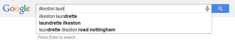 Local laundrette search query keywords