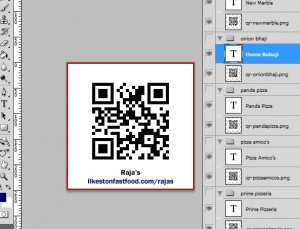 QR Code PhotoShop example