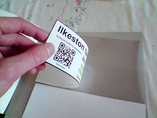 Laminate stickers
