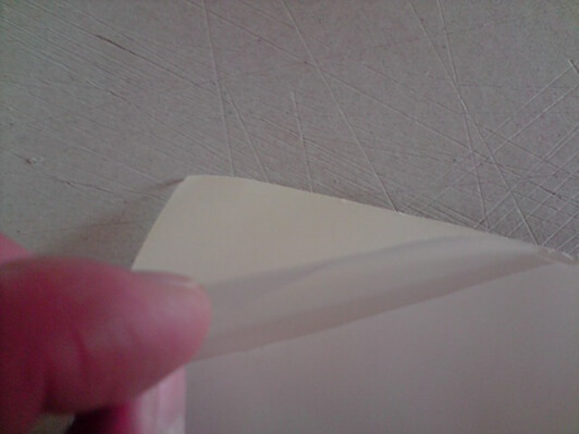 Peel back laminating film