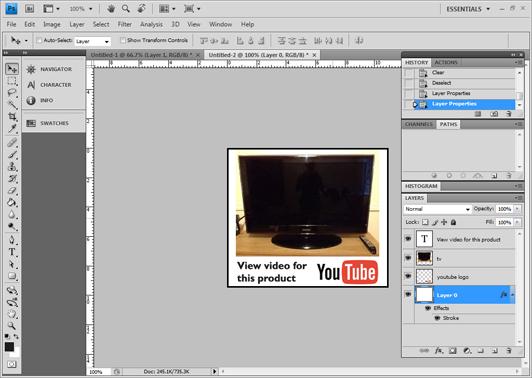 eBay PhotoShop YouTube mockup