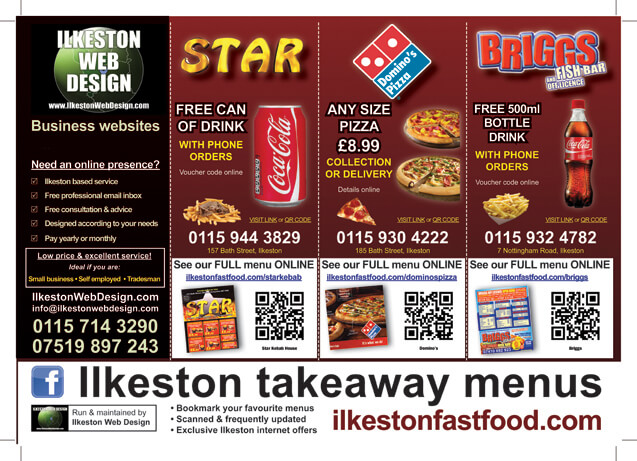 Fast Food QR Code Flyer Leaflet