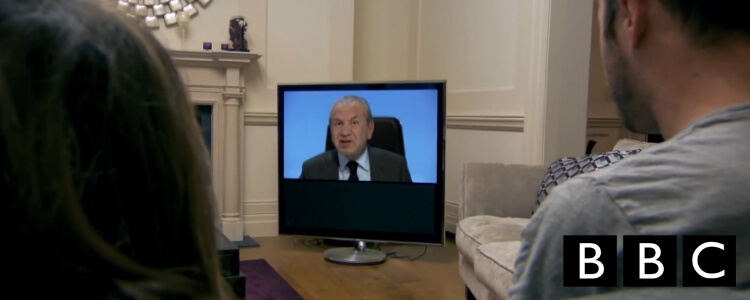 Alan Sugar On TV Set