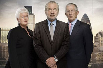 Margaret Mountford, Alan Sugar, Nick Hewer
