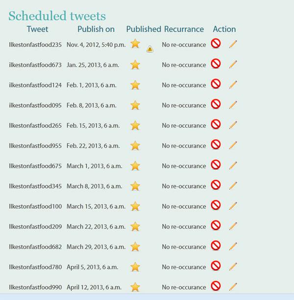 Sheduled Tweet error