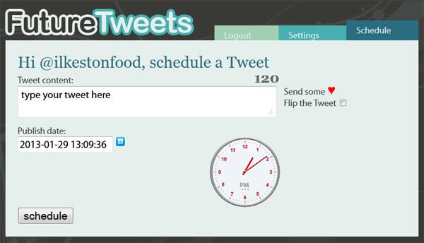Future tweets enter content