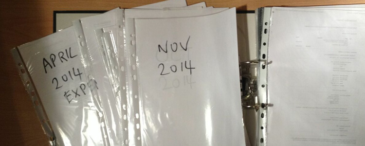 easy filing system for small biz receipts