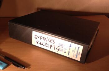 Receipts folder