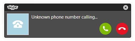 Skype Incoming Phone Call