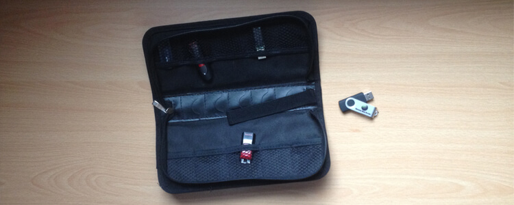 Protective Wallet for USB Thumb Drives
