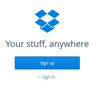 DropBox Signup