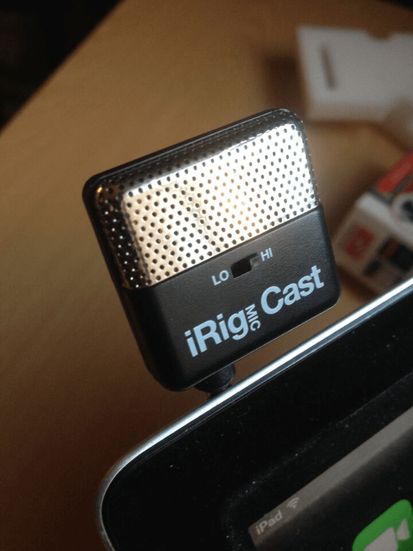 iRig Mic cast Hi Lo Switch