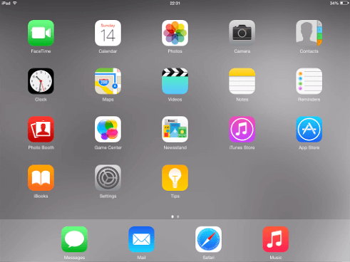 iPad Apps Homescreen