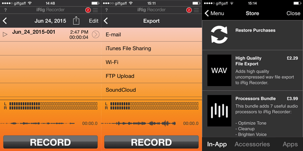 iRig Recorder App Purchase Required