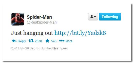 Spiderman Twitter selfie