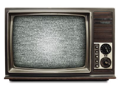 Television Set Static