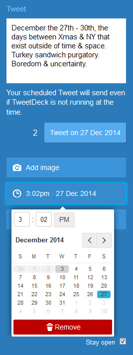Tweetdeck Scheduling