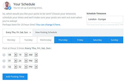 Buffer Schedule