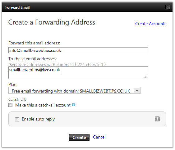 GoDaddy Email Forwarding