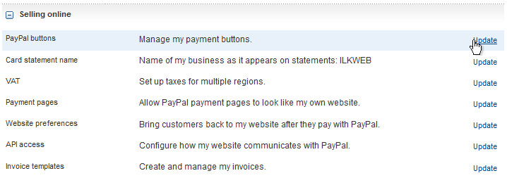 PayPal Selling Preferences