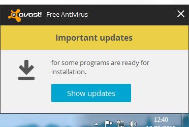 Avast Pop Up Notification