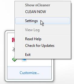 nCleaner Settings