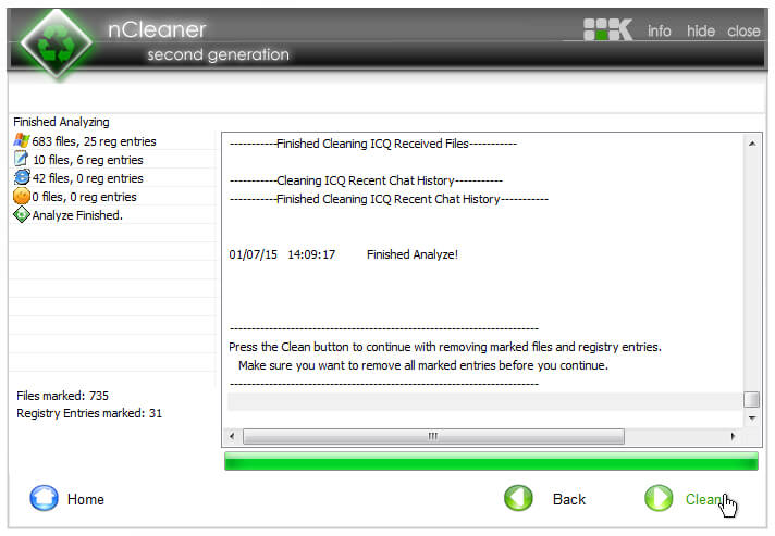 nCleaner System Analysis