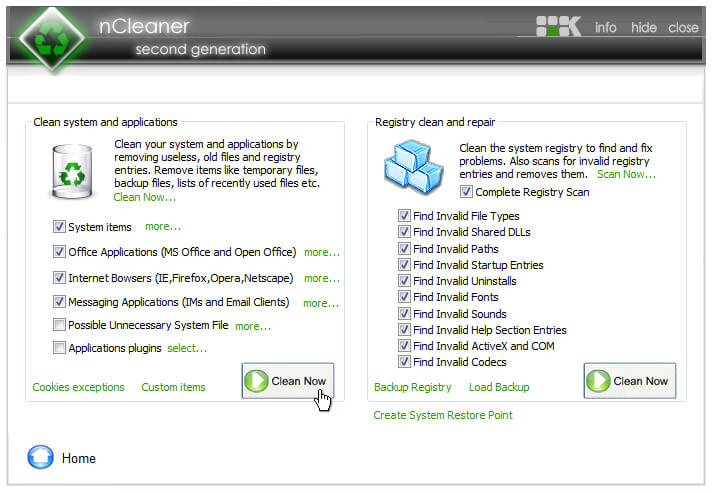 nCleaner - Scan Now