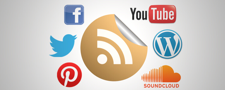 Find Social Website RSS Feeds