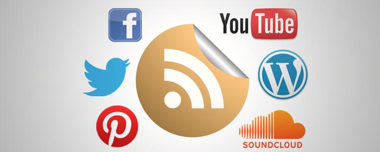 Find Social Website RSS Feeds