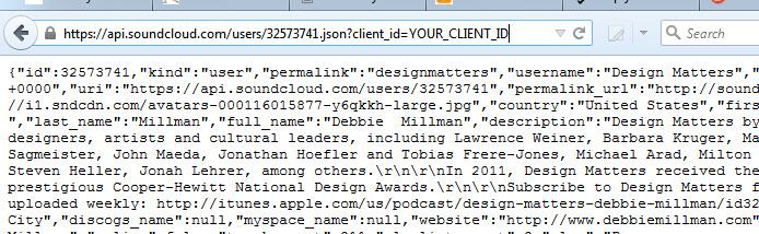 SoundCloud User ID API URL