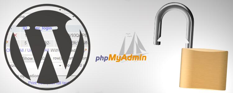 WordPress phpMyAdmin Username Security