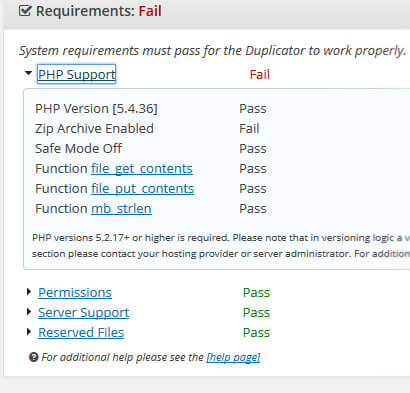 WordPress Duplicator Plugin ZipArchive Failure… My Solution