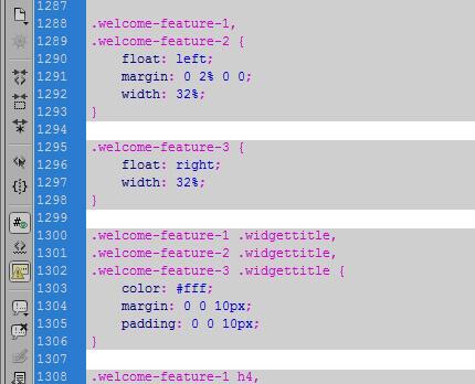 WordPress CSS Stylesheet Line Breaks