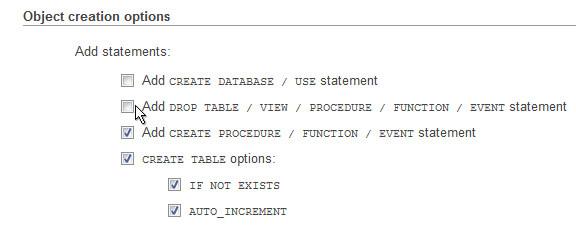 MySQL Drop Tables