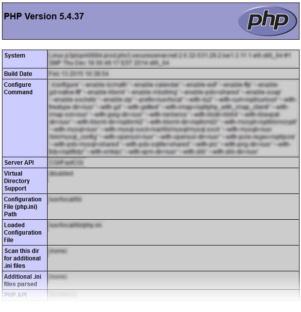phpinfo.php - PHP server configuration