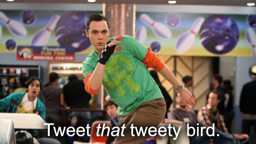 Sheldon Cooper bowling