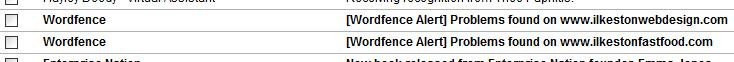 WordFence Alerts Problems Found