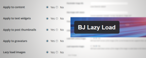 BJ Lazy Load WordPress plugin