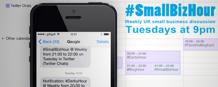 Tweet Chat SMS Reminders