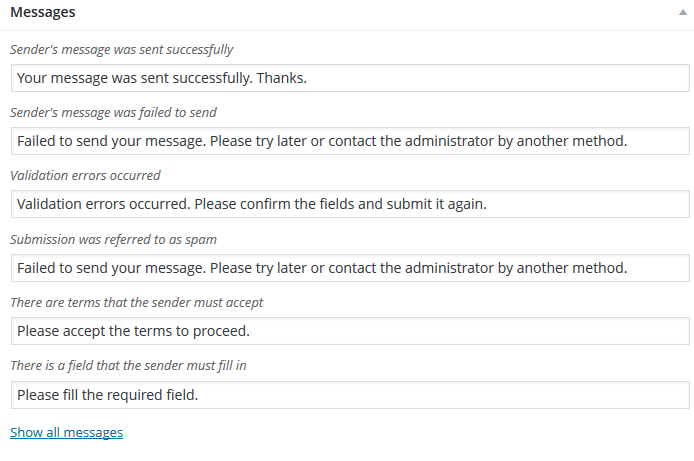 Contact Form 7 Messages