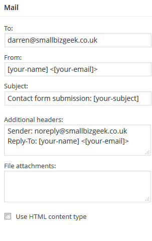 Mail Headers