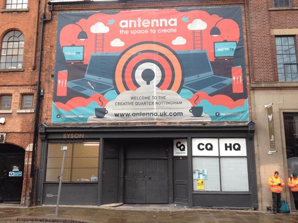 Antenna Building Front, Nottingham