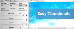 Easy Thumbnails software tools