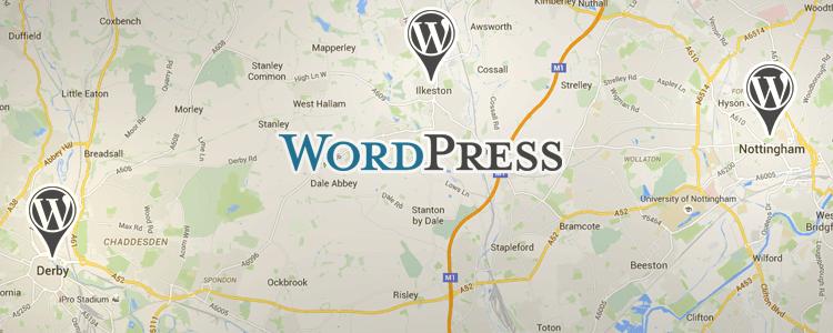 WordPress MeetUp East Midlands Map