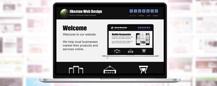 Website design on laptop PC