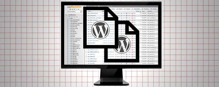 WordPress Manual Back Up