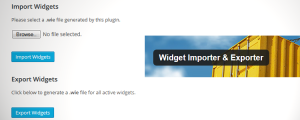 WordPress Widget Importer/Exporter Plugin