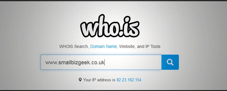 WHOIS URL lookup