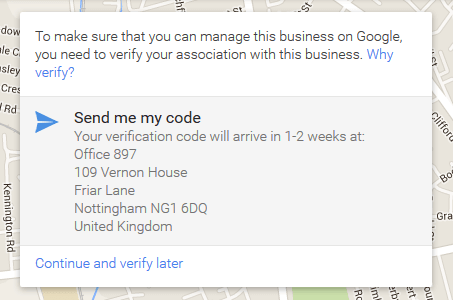 Google Map Verify